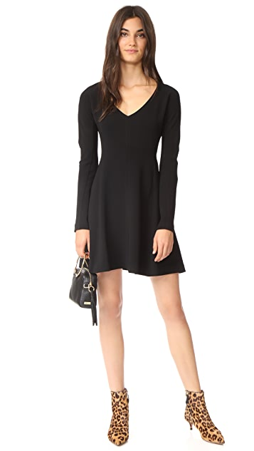 Diane von Furstenberg V Neck Flare Dress