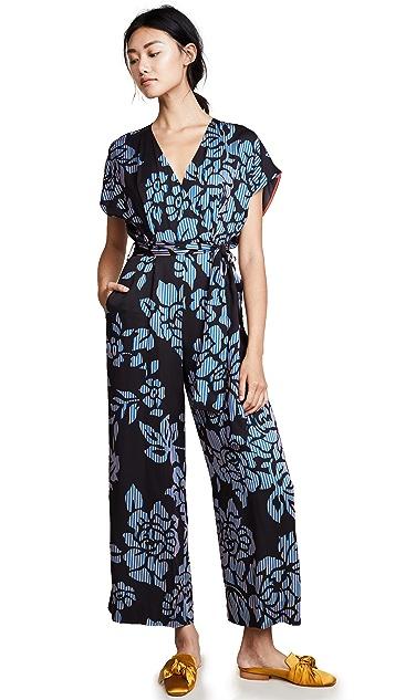 Diane von Furstenberg Front Tie Jumpsuit