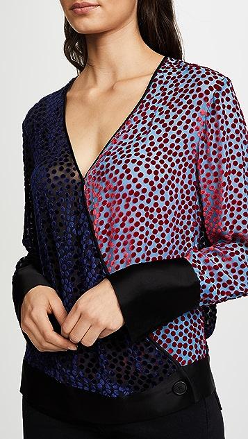 Diane von Furstenberg Velvet Wrap Top