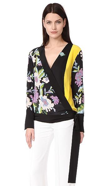 Diane von Furstenberg Блуза с перекрещенной отделкой