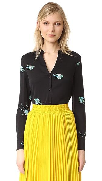 Diane von Furstenberg V Neck Shirt