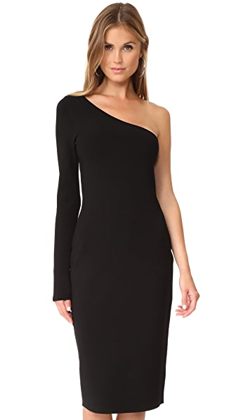 Diane von Furstenberg One Shoulder Long Sleeve Knit Dress at Shopbop