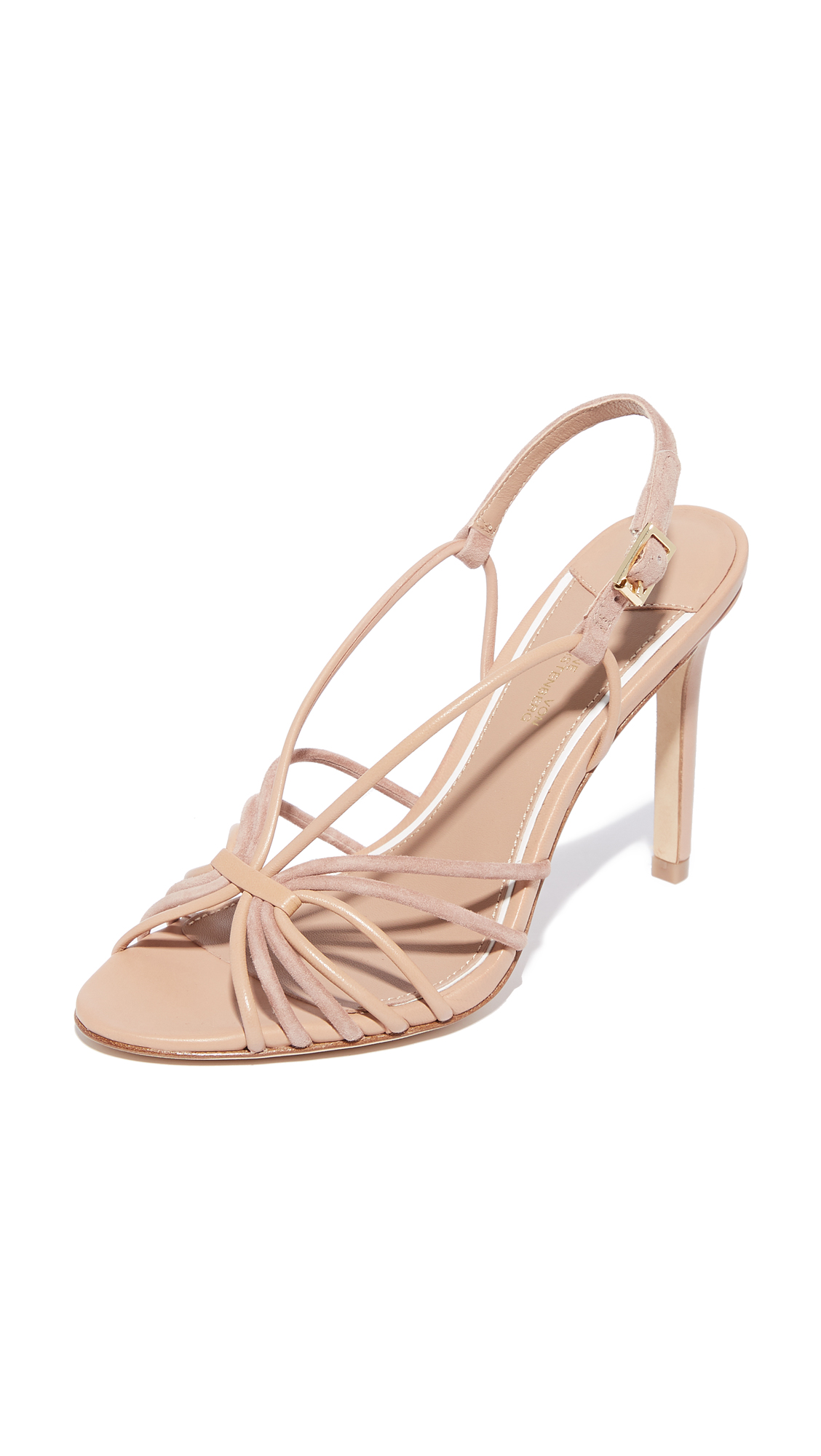 Diane von Furstenberg Milena Strappy Sandals - Powder