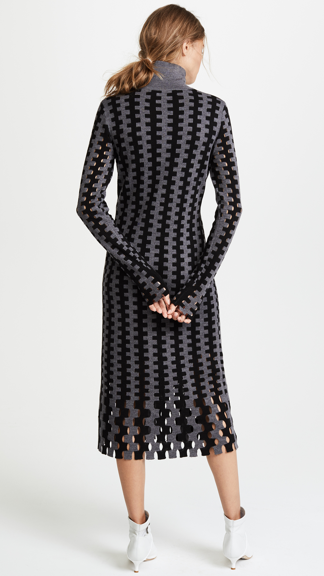dbdbb8d5c7ff Diane von Furstenberg Turtleneck Knit Midi Dress