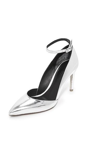 Diane von Furstenberg Laredo Pumps - Silver