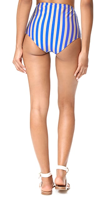 Diane von Furstenberg True High Waisted Bikini Bottoms