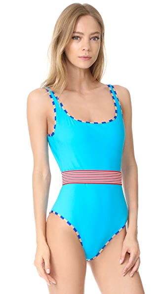Diane von Furstenberg Classic Swimsuit - Capri/Blue/Gold/Red/White