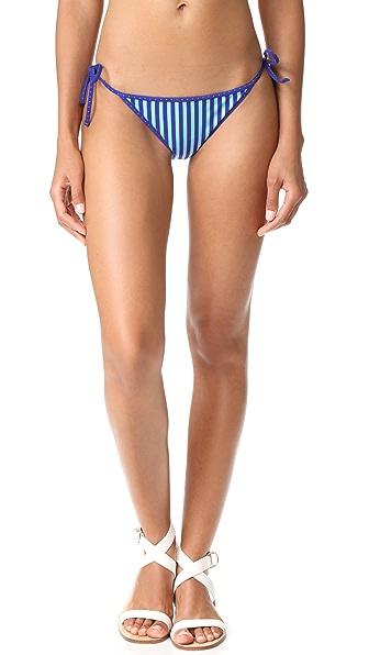 Diane von Furstenberg String Bikini Bottoms - Borda Star Klein/Multi