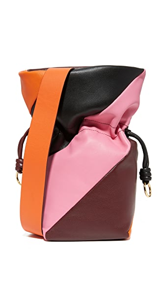 Diane von Furstenberg Evening Drawstring Bag - Bordeaux/Orange/Pink Azalea