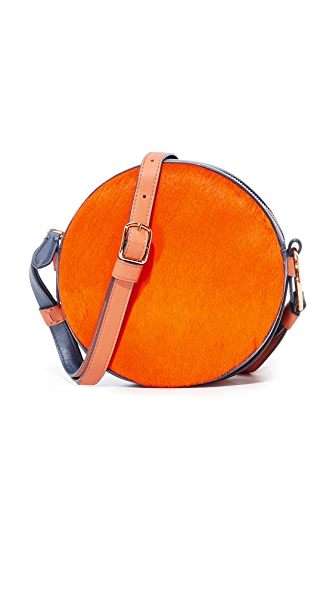 Diane von Furstenberg Circle Bag In Orange/Midnight/Kola