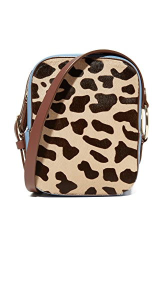 Diane von Furstenberg Camera Bag - Leopard/Powder Blue