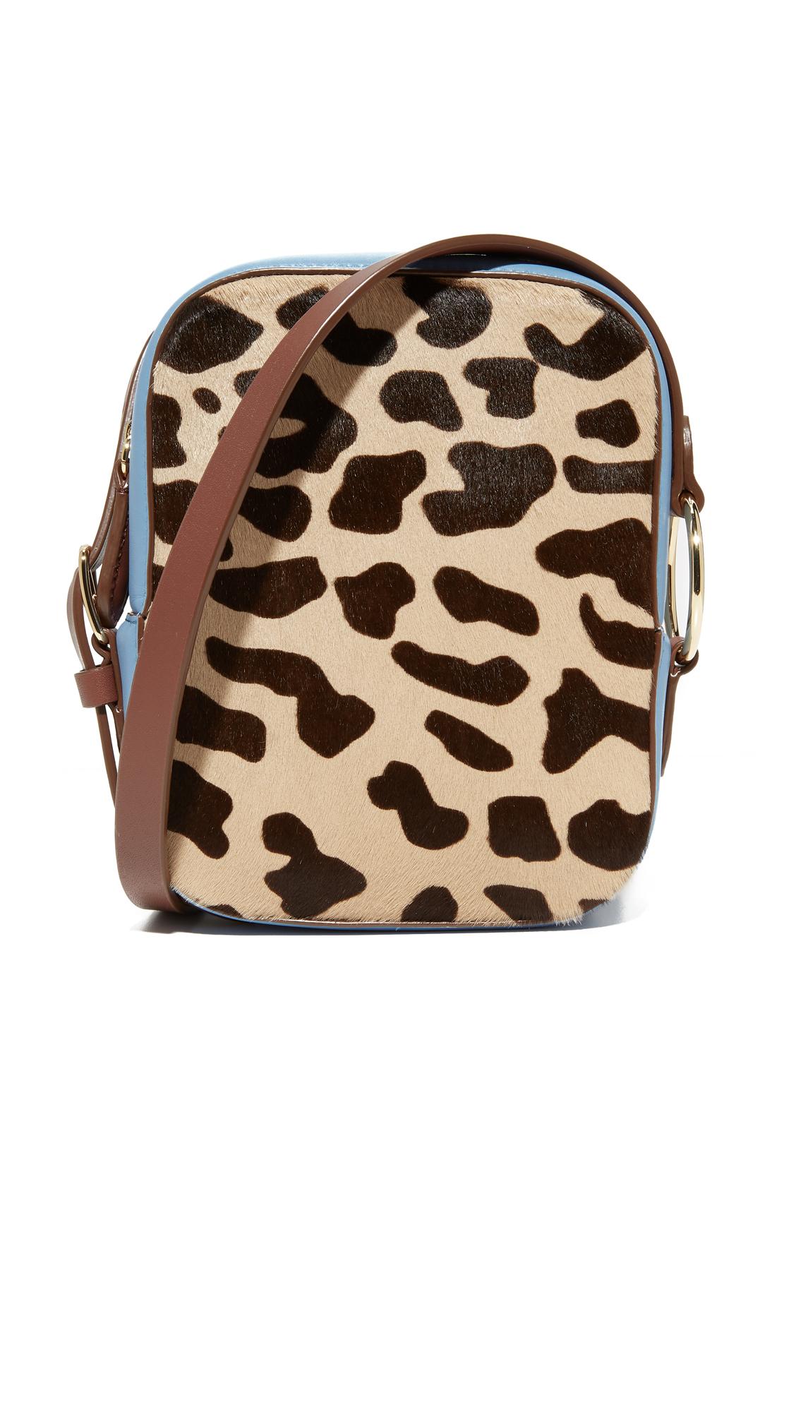 Diane von Furstenberg Camera Bag - Leopard/Powder Blue