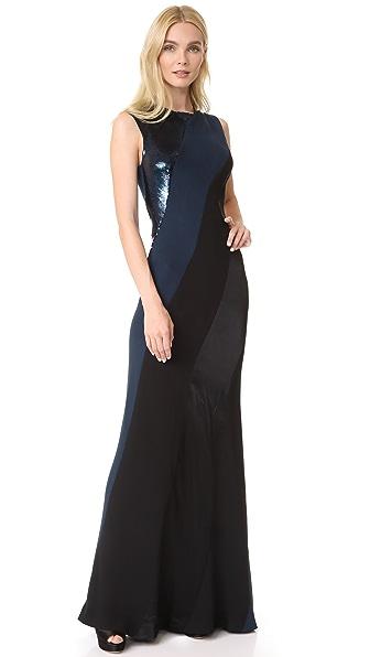 Diane von Furstenberg Sleeveless Bias Gown