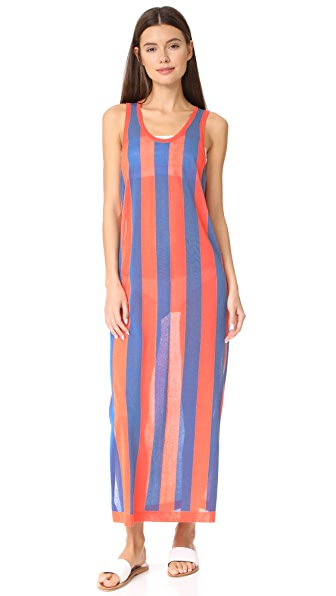 Diane von Furstenberg Beach Sun Dress In Blue/Orange