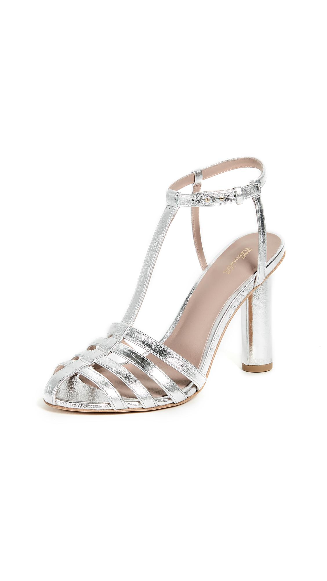 Diane von Furstenberg Eva 2 Sandals - Metallic Silver