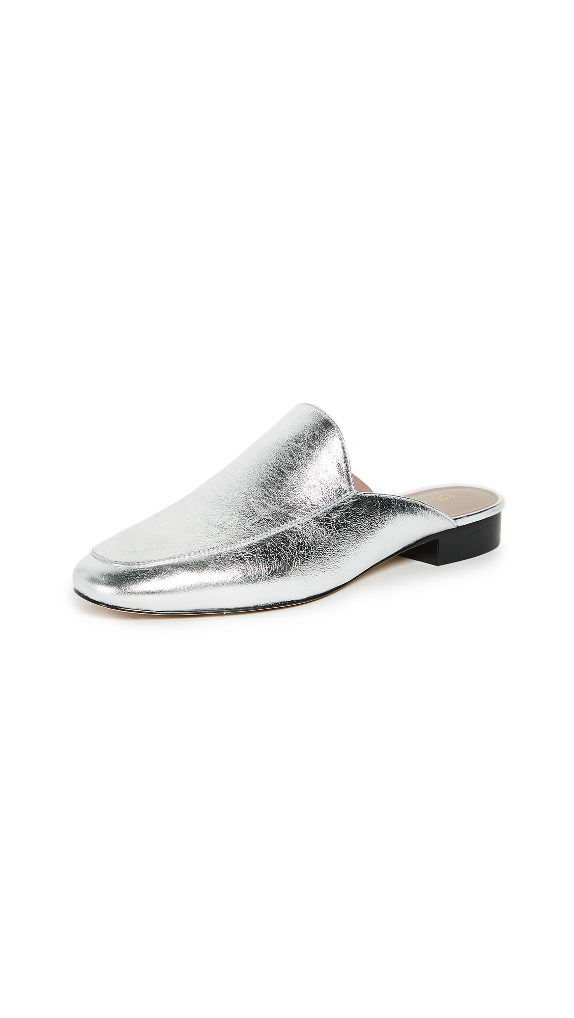 Diane von Furstenberg Lexington Mules - Metallic Silver