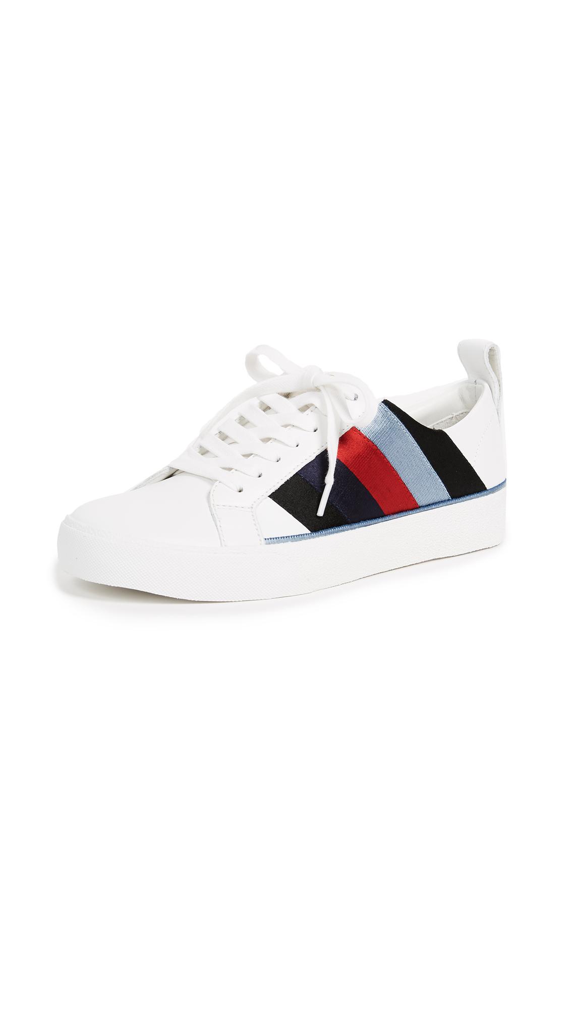 Diane von Furstenberg Tess Sneakers - White/Lipstick