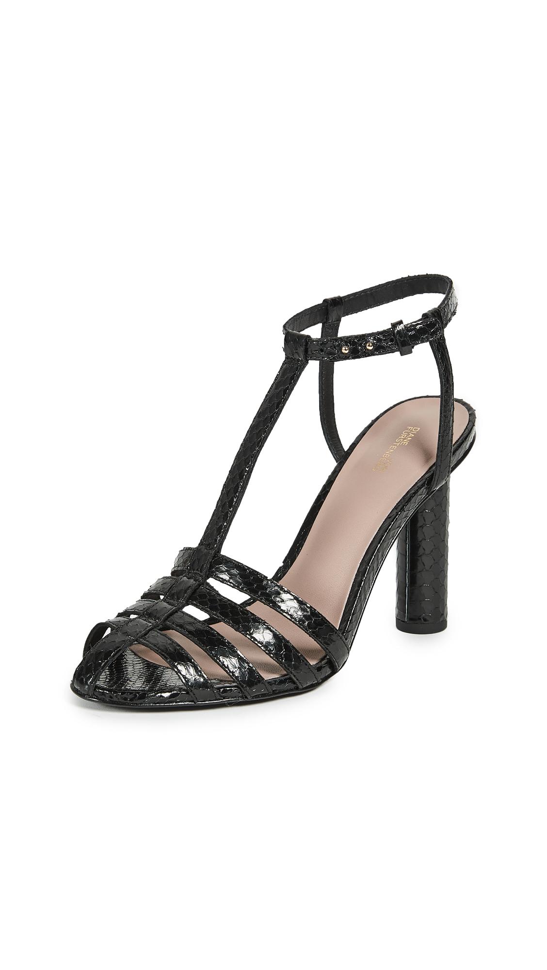 Diane von Furstenberg Eva Sandals - Black