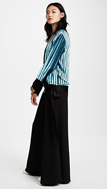 Diane von Furstenberg Crossover Velvet Blouse