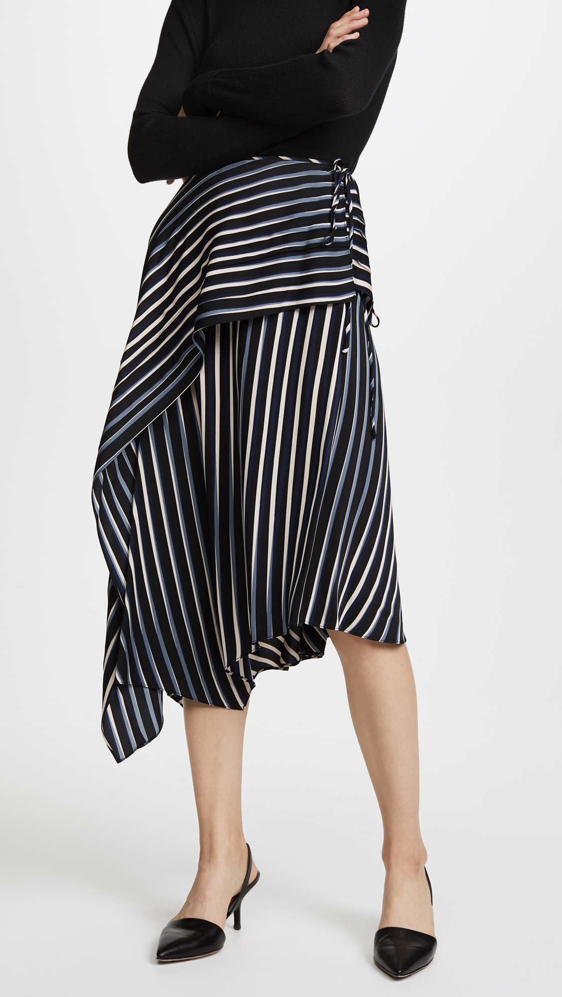 6e3d8bdacb Diane von Furstenberg Draped Asymmetric Midi Skirt | SHOPBOP