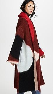 Diane von Furstenberg Пальто в технике интарсия