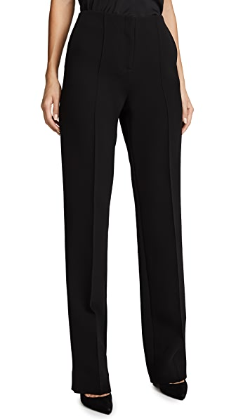 Diane von Furstenberg Pleat Front Pants In Black
