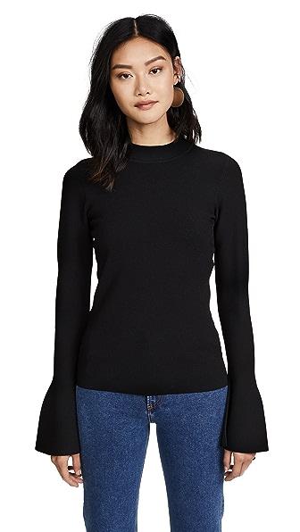 Diane von Furstenberg Flare Sleeve Sweater