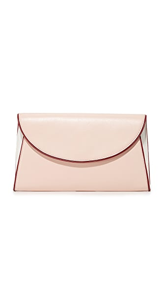 Diane von Furstenberg Evening Clutch - Petal/Ivory/Red Wine