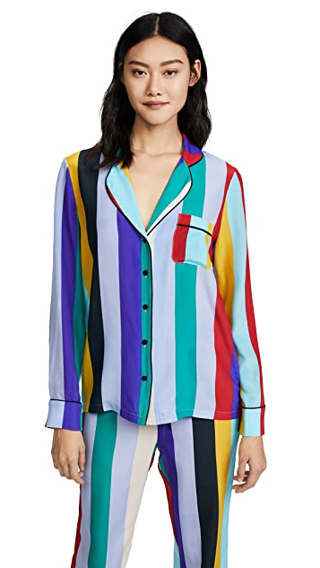 Diane von Furstenberg Long Sleeve PJ Top