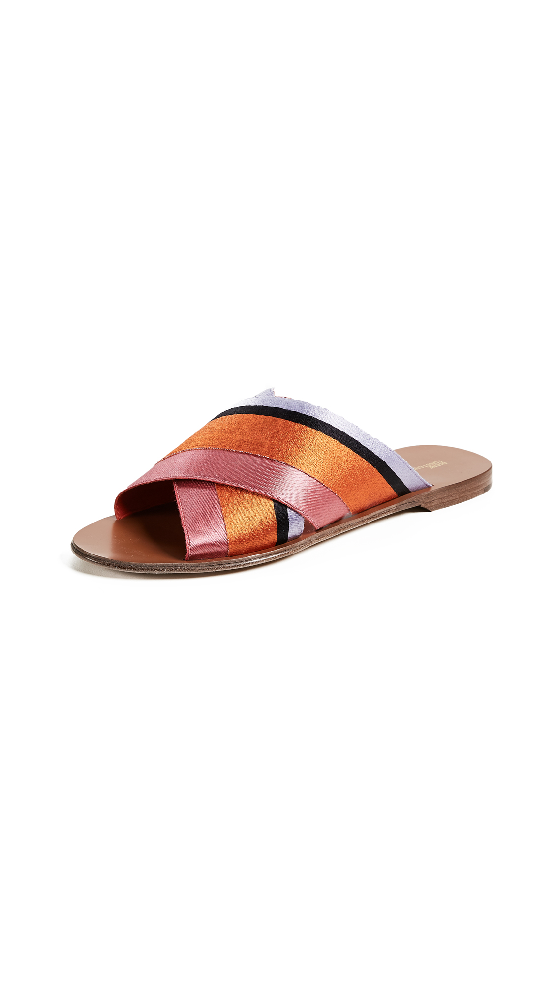 Diane von Furstenberg Bailie 3 Slides - Pink Multi