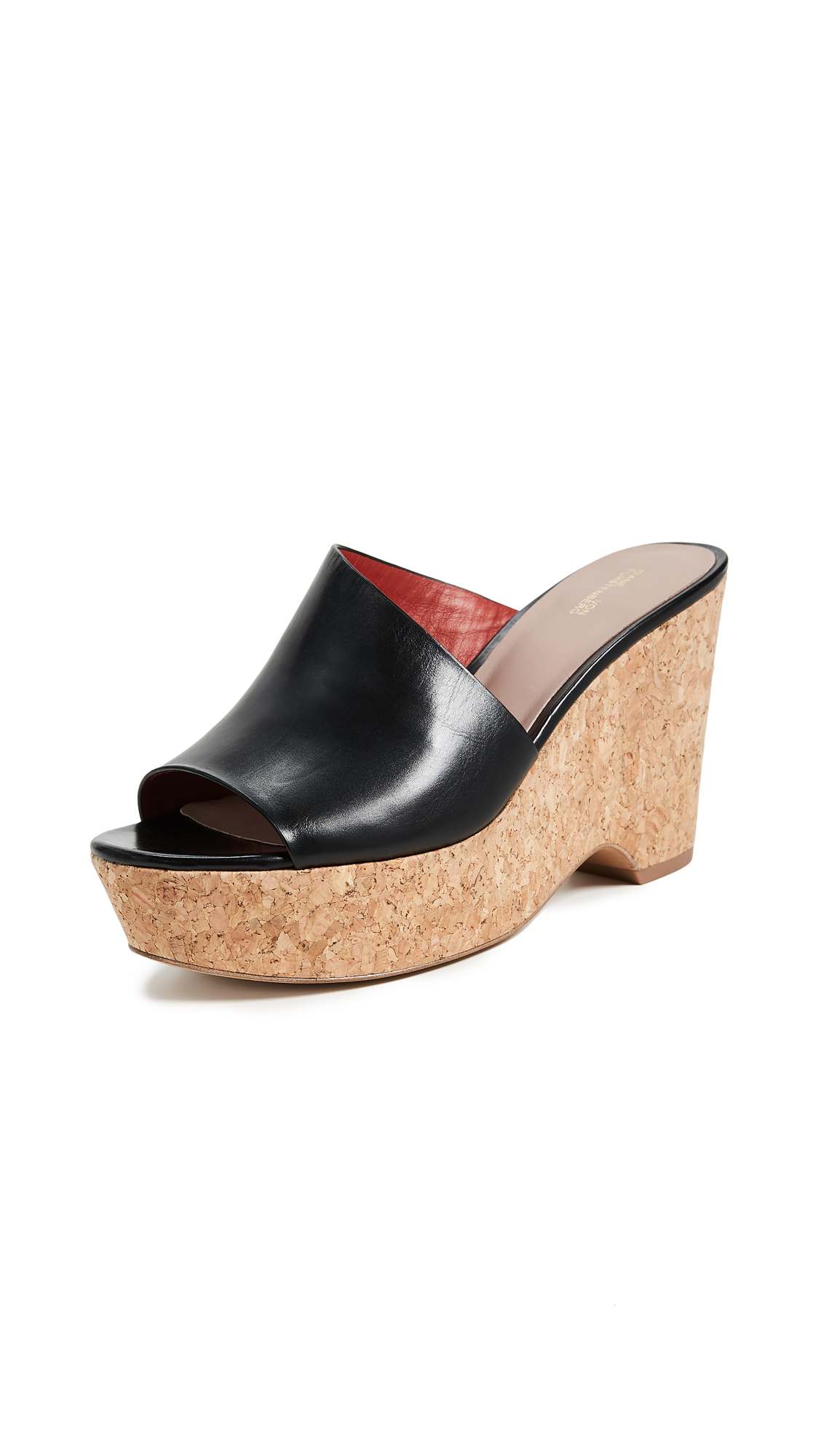 Diane von Furstenberg Bonnie Wedge Mules - Black