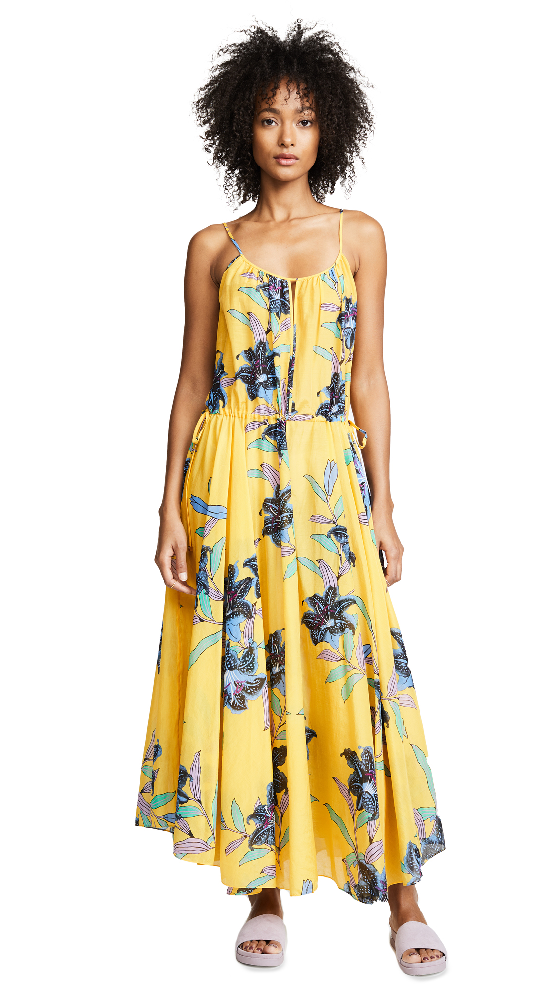 Floral-Print Cotton And Silk-Blend Gauze Maxi Dress, Argos Pineapple