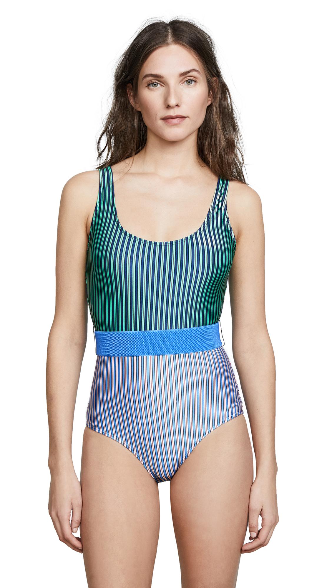 Diane von Furstenberg Tie Front Classic One Piece Swimsuit