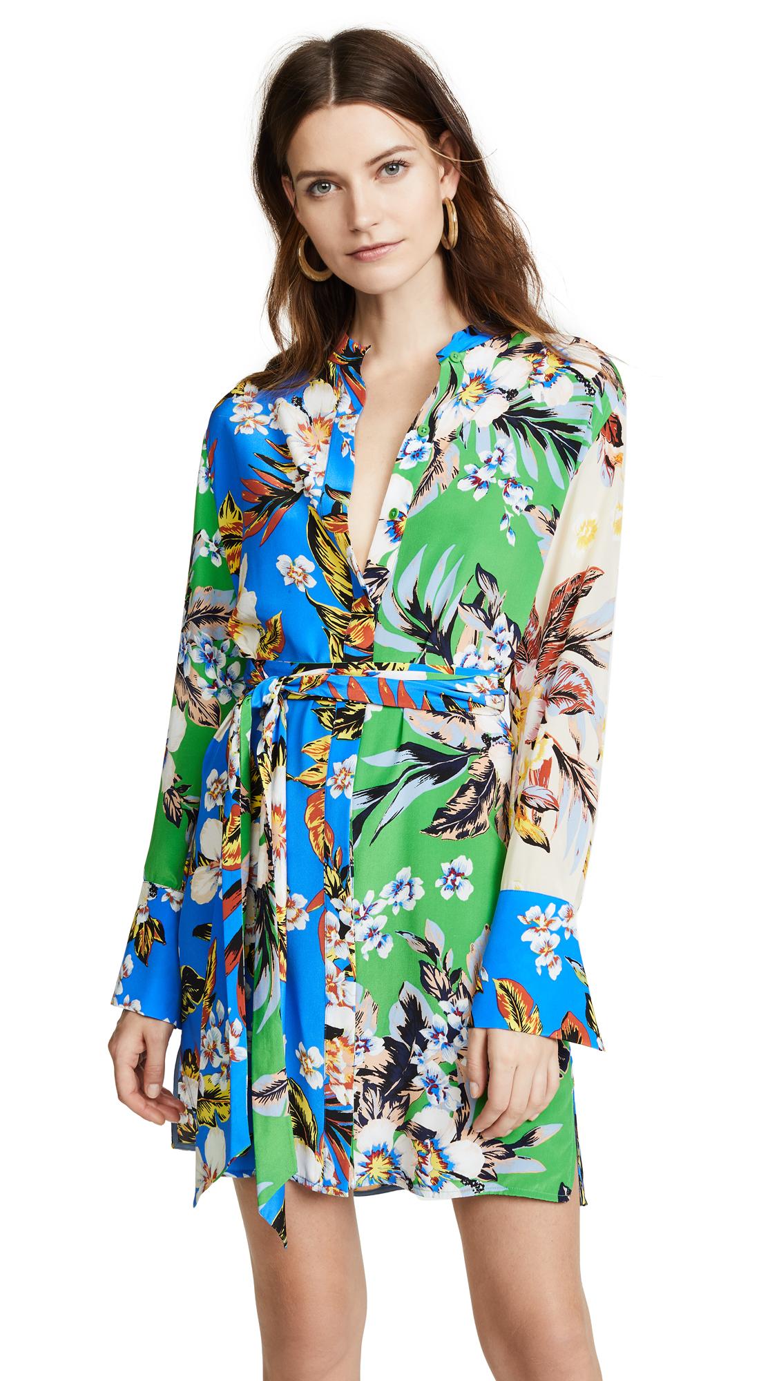 Diane von Furstenberg Floral Shirtdress