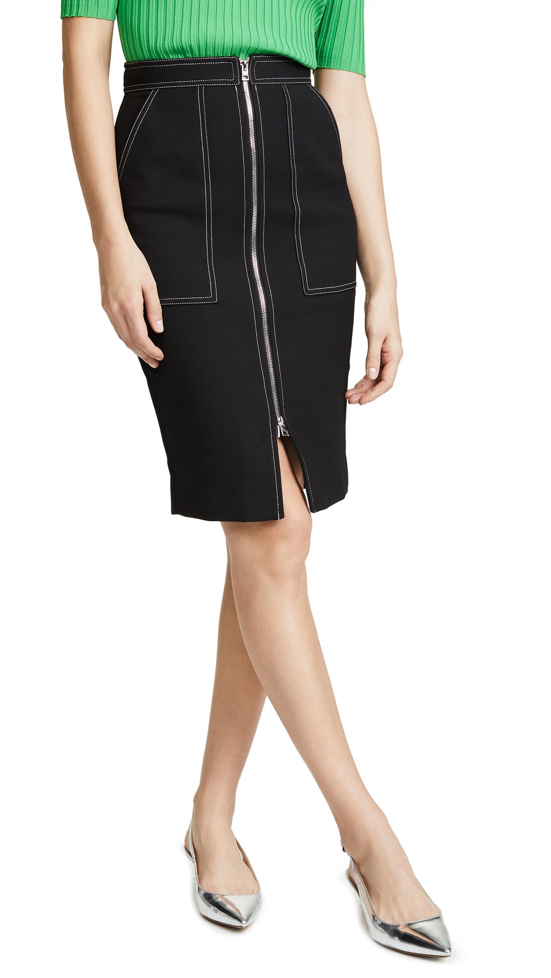 Cotton Patch Pocket Zip Skirt