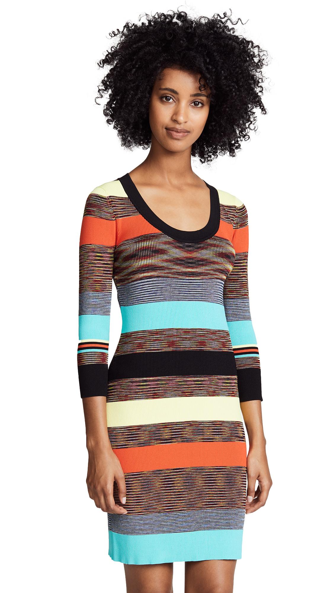Diane von Furstenberg Scoop Neck Sweater Dress