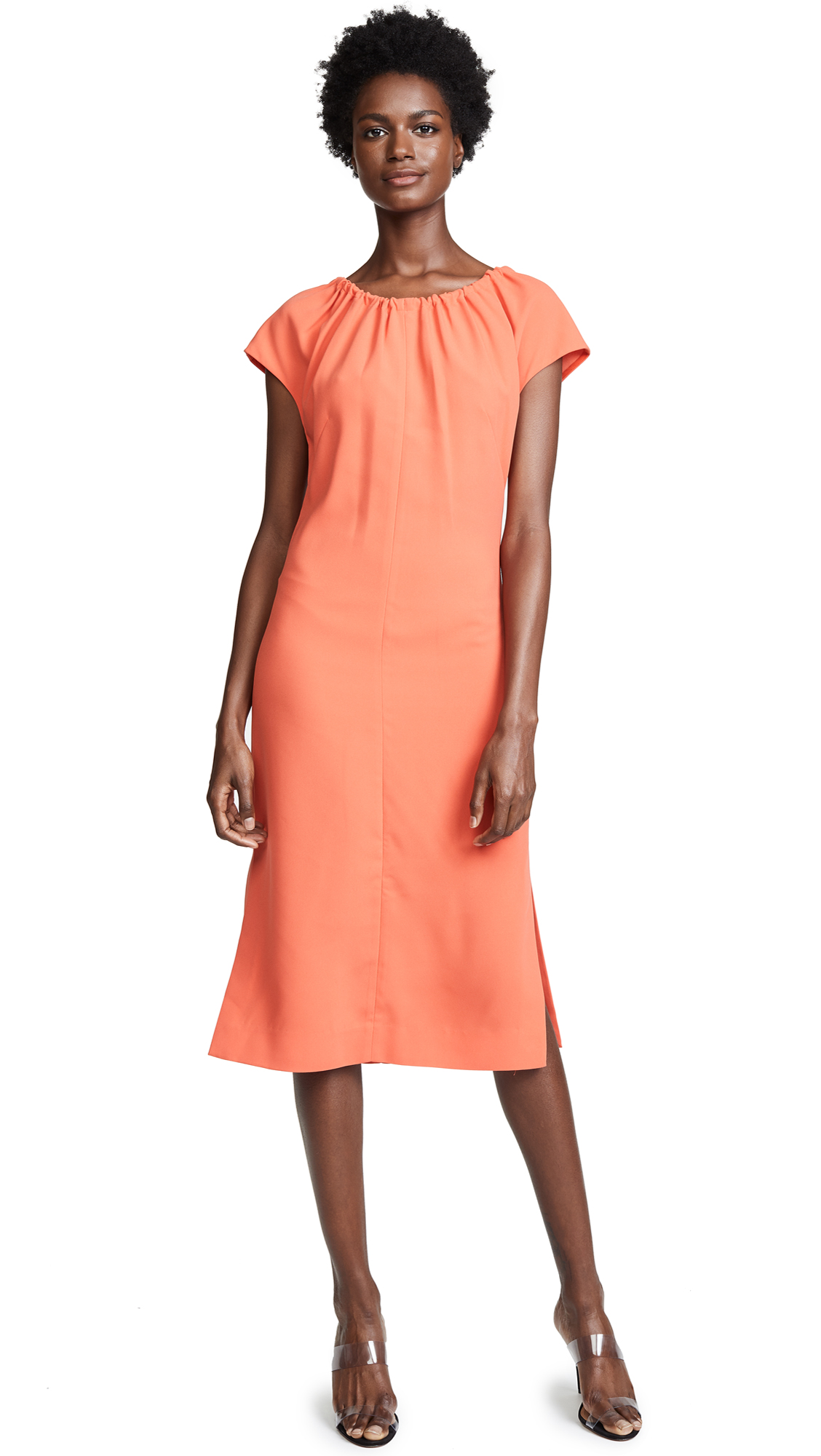 Diane von Furstenberg Pintuck Block Dress