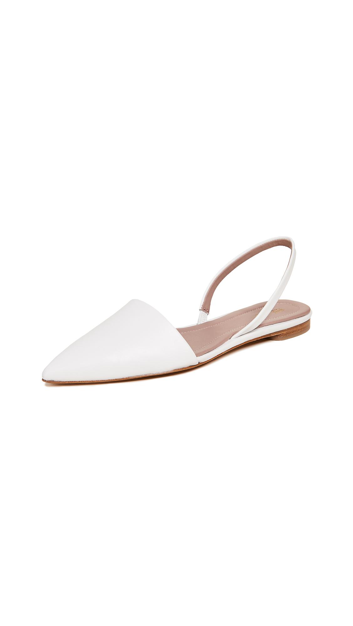 Diane von Furstenberg Koko Slingback Flats - White