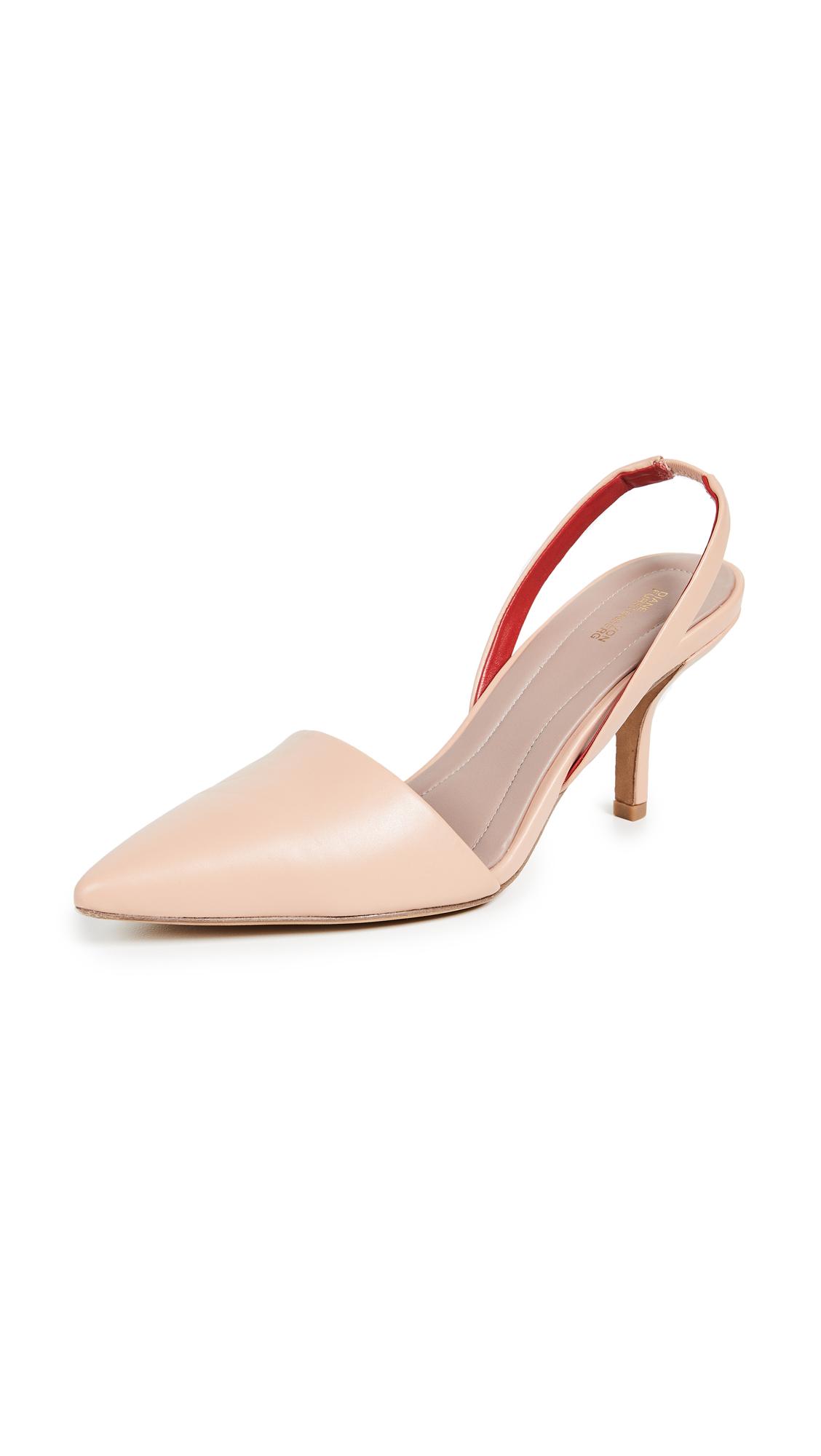Diane von Furstenberg Mortelle Slingback Pumps - Pink Sand