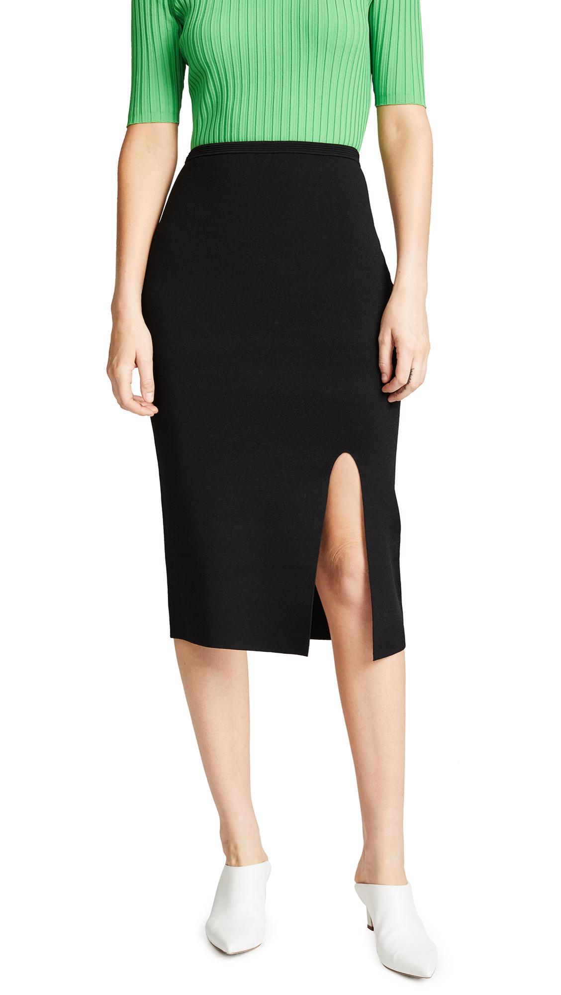 Diane von Furstenberg Side Slit Pencil Skirt In Black