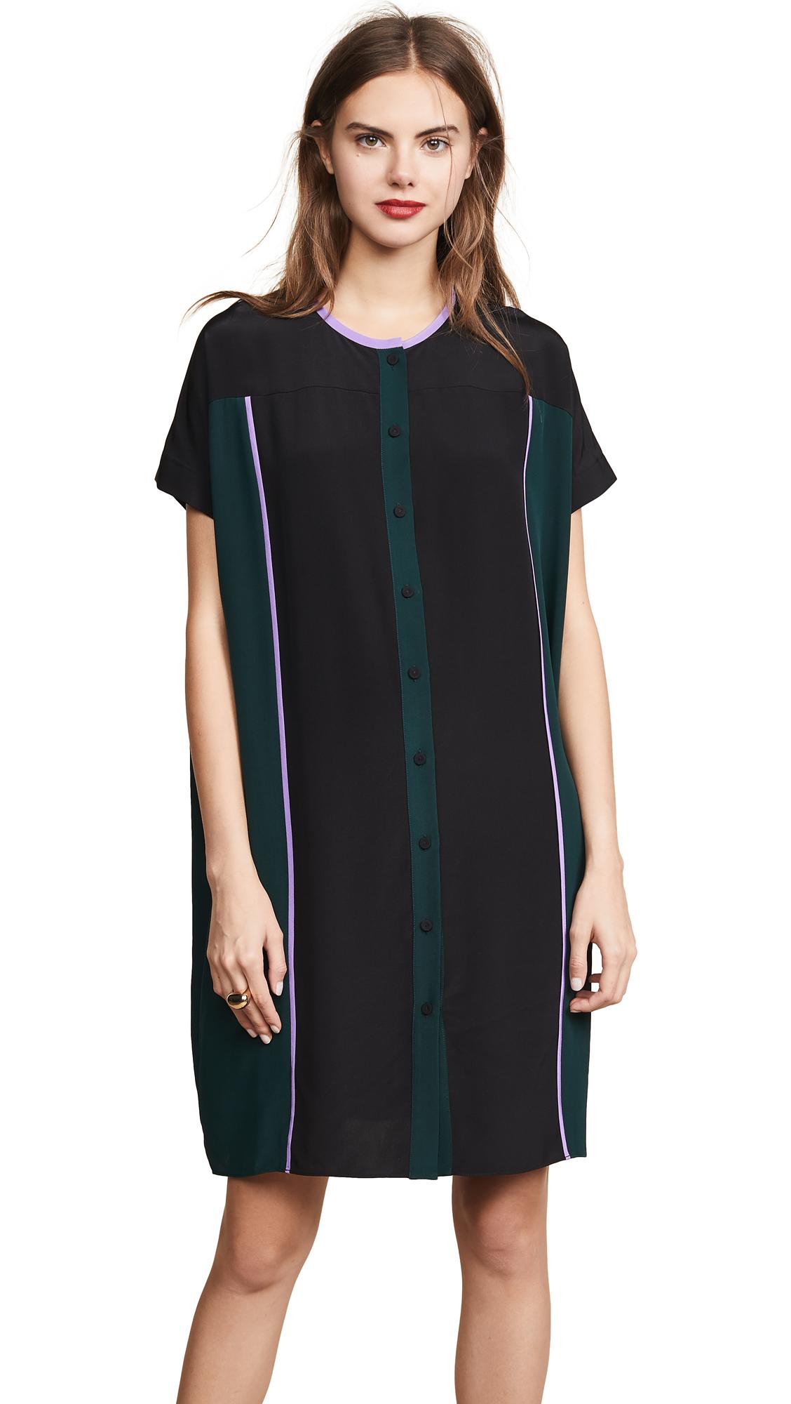 Diane von Furstenberg Ruffle Sleeve Shirtdress