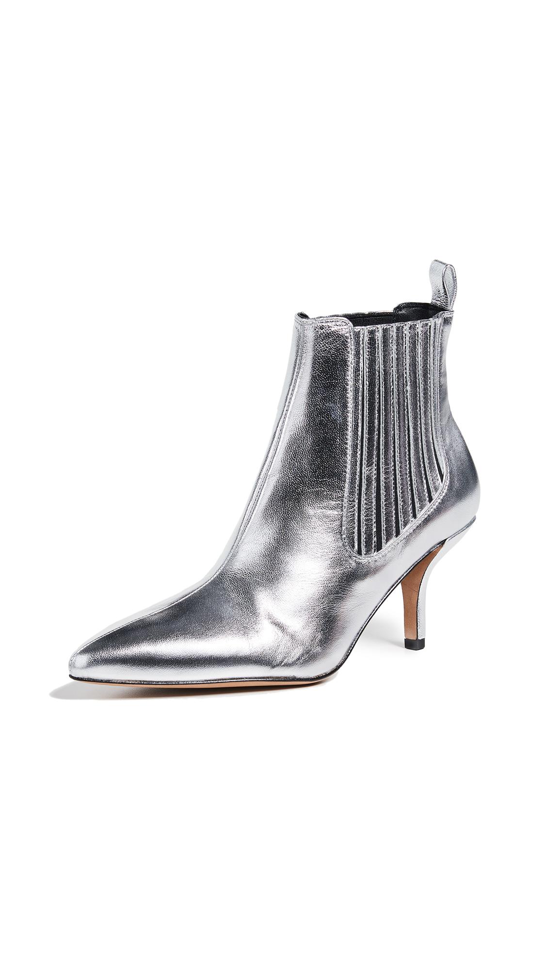 Diane von Furstenberg Mollo Booties - Silver
