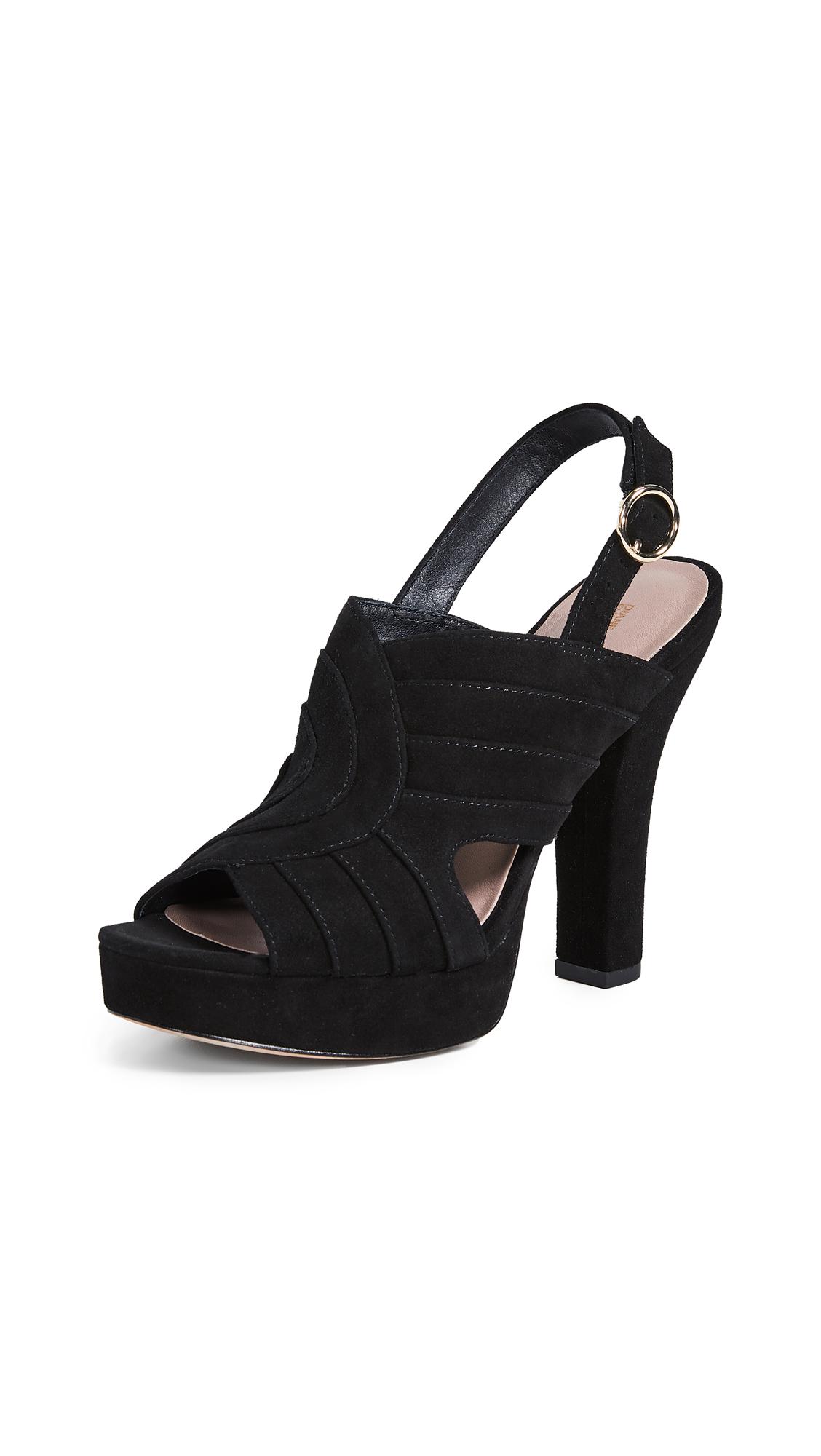 Diane von Furstenberg Tabby Sandals - Black