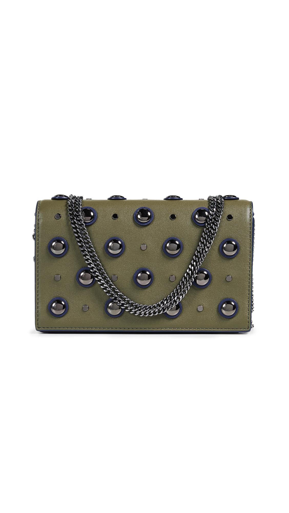 Diane von Furstenberg Soiree Cross Body Bag In Khaki