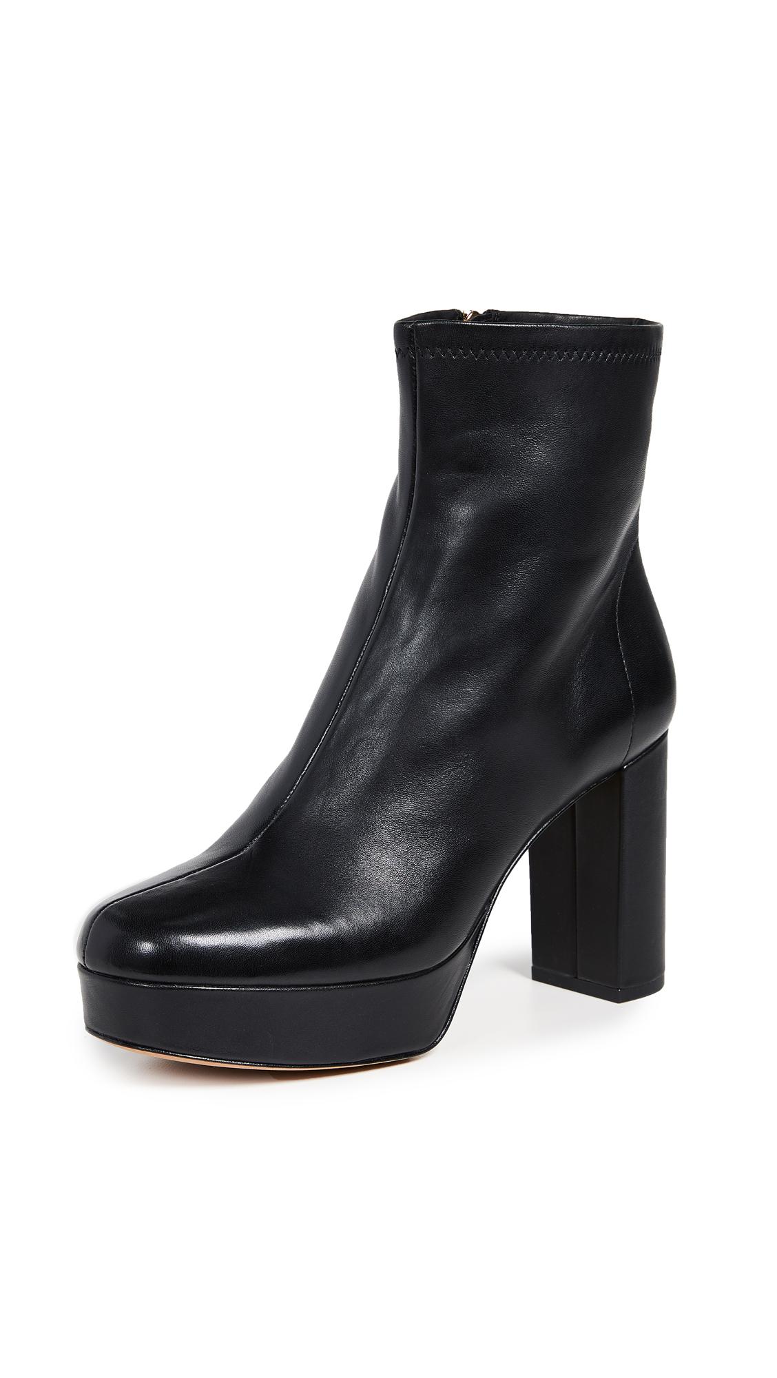 Diane von Furstenberg Yasmine Platform Boots - Black