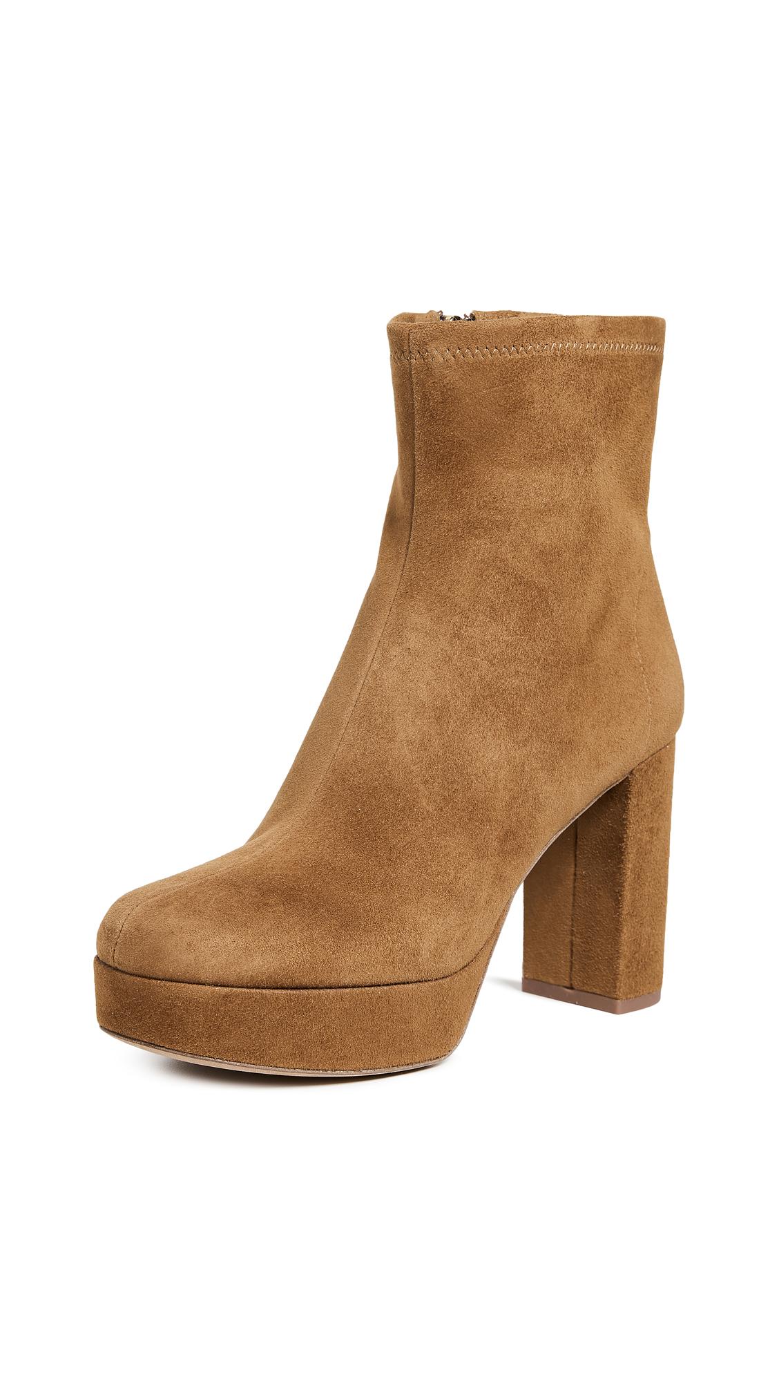 Diane von Furstenberg Yasmine Platform Boots - Sand