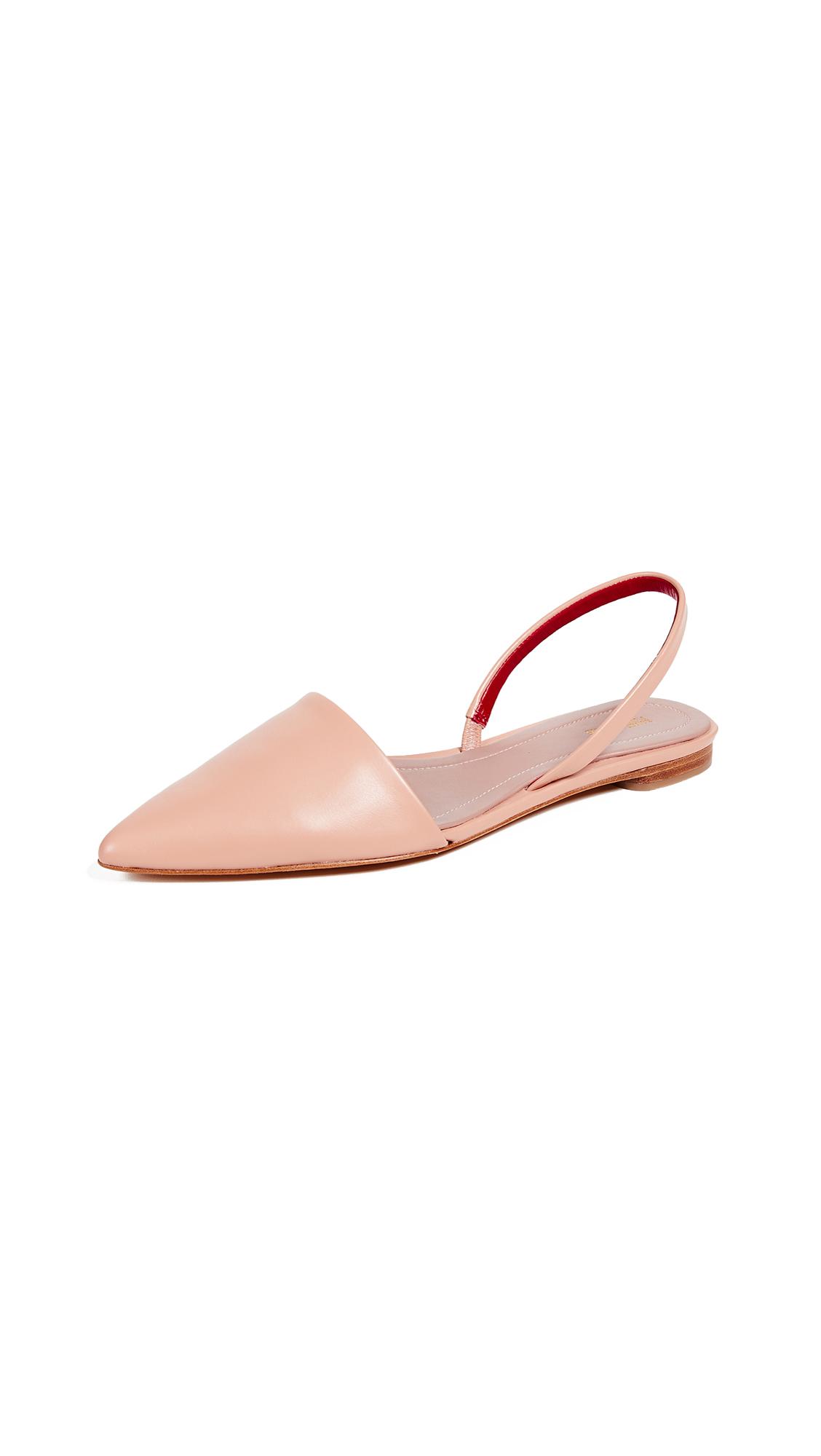 Diane von Furstenberg Koko Slingback Flats - Pink Sand