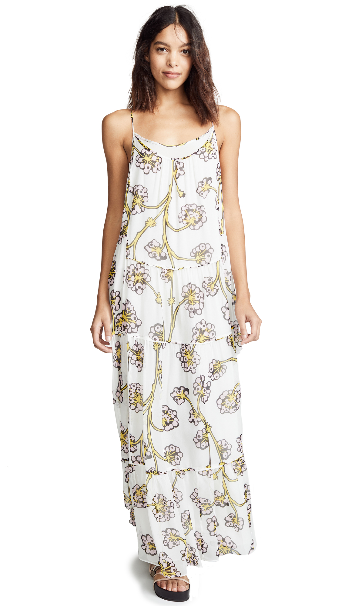 Diane von Furstenberg Baylee Maxi Dress - Dragon Berry Giant Ivory