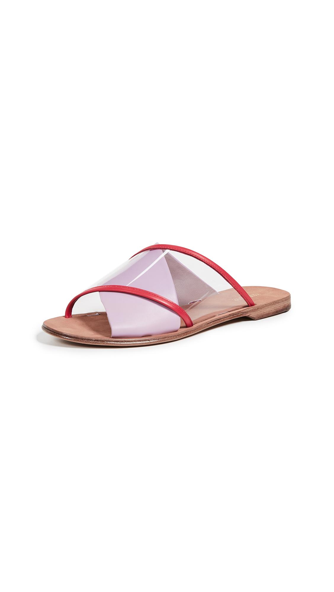 Diane von Furstenberg Bailie 4 Crisscross Slides - Amethyst