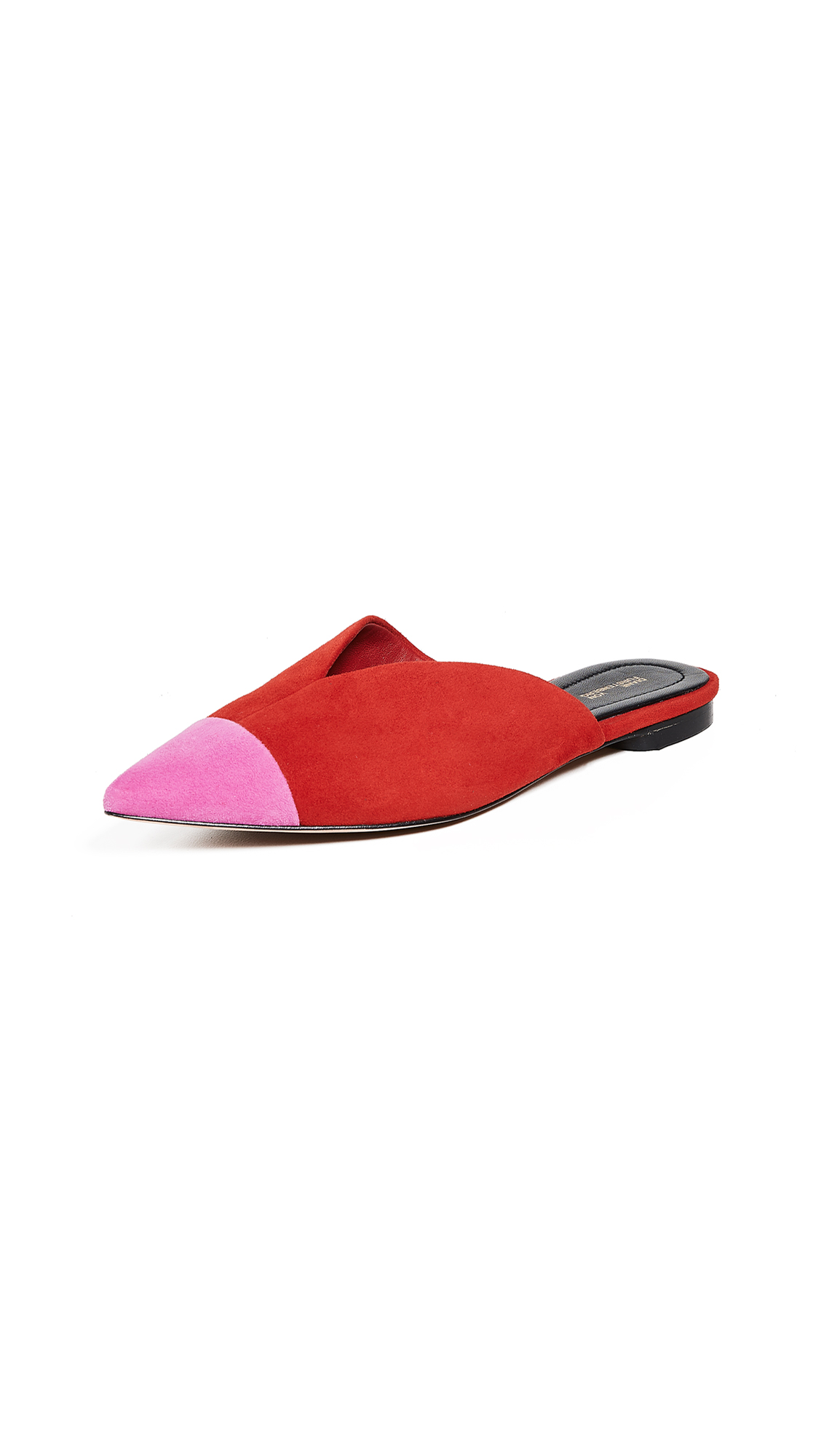 Diane von Furstenberg Love Mules - Fuchsia/Red
